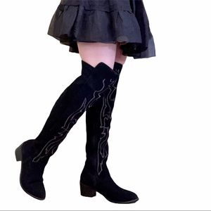 Olivia Miller Bohemia Black Over-the-Knee Boots